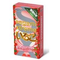 Японские латексные презервативы Sagami Xtreme Strawberry с ароматом клубники 10 шт. Арт. 101283