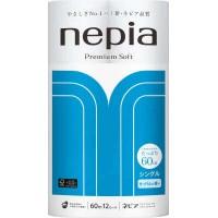 Туалетная бумага однослойная NEPIA Premium Soft, ароматизированная 60 м, 12 рулонов Арт. 208404