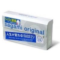 Японские полиуретановые презервативы Sagami Original 0.02 QUICK 6 шт. Арт. 556934