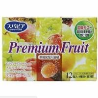 Соль для ванны Fuso Kagaku Premium Fruits с тонизирующим эффектом на основе углекислого газа с ароматом сочных фруктов, 12 таблеток х 40 гр. Арт. 860200
