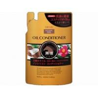 Кондиционер для сухих волос Kumano Deve с 3 видами масел (лошадиное, кокосовое и масло камелии), без силикона, сменная упаковка, 400 мл. Арт. 024328