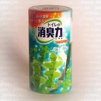 Японский жидкий дезодорант для туалета ST Shoushuuriki c ароматом яблочной мяты, 400 мл. Арт. 115037