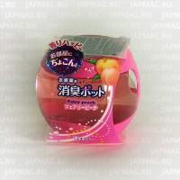 Японский освежитель воздуха на основе желе для комнат ST Shoushuu Pot с ароматом персика, 270 г. Арт. 119745