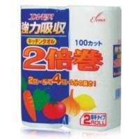 Бумажные полотенца для кухни Kami Shodji ELLEMOI, 100 отрезков (2 рулона) Арт. 170131