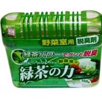 KOKUBO Deodorant POWER OF GREEN TEA Дезодорант-поглотитель неприятных запахов для холодильника с экстрактом зелёного чая (овощная камера) 150 г. Арт. 223626