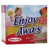 """Японский стиральный порошок с кондиционером Rocket Soap Enjoy Awa""""s - аромат цветов, 900 г Арт. 30325"""
