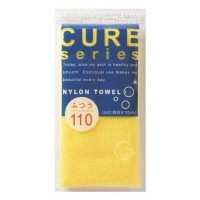 Японская массажная мочалка O-HE CURE NYLON TOWEL REGULAR YELLOW средней жесткости. Арт. 618529