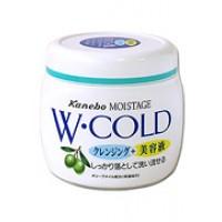 """Очищающий и увлажняющий """"холодный"""" крем для лица Kracie Moistage с оливковым маслом W-COLD, 270 гр. Арт. 64398"""
