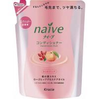 Бальзам-ополаскиватель для сухих волос восстанавливающий «Naive - экстракт персика и масло шиповника» (сменная упаковка) , 440 мл. Арт. 71611