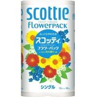 Туалетная бумага Crecia Scottie Flower PACK однослойная (50м) 12 шт. Арт. 152604