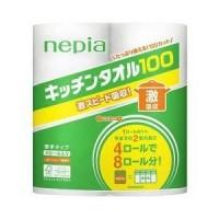 Кухонные бумажные полотенца NEPIA 4 ролла по 100 листов Арт. 333519
