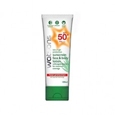 Солнцезащитный лосьон Watsons High Protection Sunscreen face & body lotion with aloe vera SPF50 PA +++, 100 мл. Арт. 049083