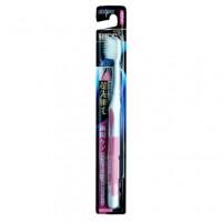 Зубная щетка EBISU с утонченными кончиками и прорезиненной ручкой, средней жёсткости. Арт. 008300