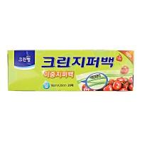 Плотные полиэтиленовые пакеты на молнии Clean Wrap 25см*30см, 20 шт. Арт. 028109