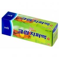 Плотные полиэтиленовые пакеты на молнии Clean Wrap 18см х 20см, 50шт. Арт. 029519