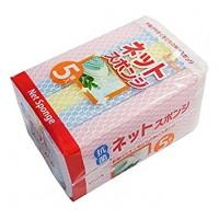 Губка для мытья посуды AJWA с покрытием-сеточкой, 5 штук. Арт. 126160