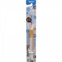 Зубная щетка EQ MAXON Dentione с компактной головкой, сверхтонкими щетинками двойной высоты и тонкой прорезиненной ручкой, с ионами серебра, средней жесткости. Арт. 169600