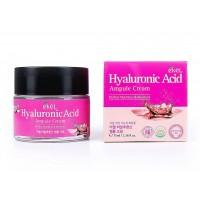 Крем для лица ампульный увлажняющий с гиалуроновой кислотой Ekel Ampule Cream Hyaluronic Acid, 70 мл. Арт. 276844
