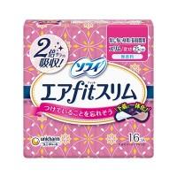 Парфюмированные ультратонкие супервпитывающие гигиенические прокладки Unicharm Sofy Air Fit Slim Aroma, 25 см, 16 шт. Арт. 354993