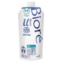 """Нежное жидкое мыло для тела  KAO Biore U Pure Savon """"Пикантный аромат свежести"""", с ароматом цветочного мыла, сменная упаковка, 340 мл. Арт. 366993"""