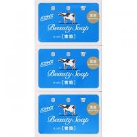 Молочное освежающее туалетное мыло с прохладным ароматом жасмина  COW Beauty Soap, 130 гр × 3 шт. Арт. 008747