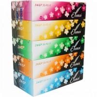 Бумажные двухслойные гигиенические салфетки Kami Shodji ELLEMOI Elegance, 200 шт. (5 пачек в упаковке). Арт. 700505