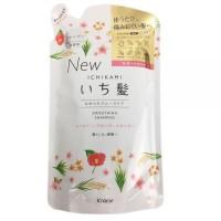Шампунь разглаживающий для поврежденных волос Kracie Ichikami с ароматом горной сакуры, сменная упаковка, 340 мл. Арт. 721754