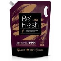 Жидкое средство для стирки CJ LION Be Fresh by Beat с виноградным уксусом, 1600 мл, сменная упаковка. Арт. 627005