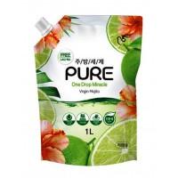 Средство для мытья посуды PIGEON PURE VIRGIN MOJITO, мохито, сменная упаковка, 1 л. Арт. 884733