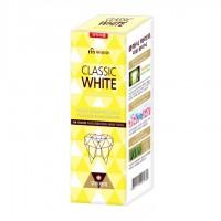 Отбеливающая зубная паста Classic White Double Clinic двойного  действия, с микрогранулами, аромат мяты и ментола, 110 гр. Арт. 901789