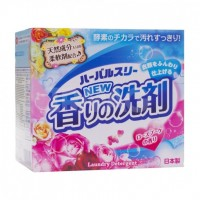 Стиральный порошок Mitsuei Herbal Three Сила ферментов с кондиционером, аромат розы, 850 гр. Арт. 060755