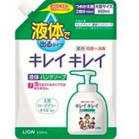 Жидкое мыло для рук Lion Kirei kirei с ароматом лимона, сменная упаковка, 450 мл. Арт. 17683