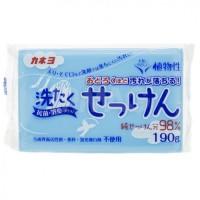 Хозяйственное мыло KANEYO (98% жирных кислот)  для удаления стойких пятен с одежды, 190 гр. Арт. 240350