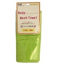 Мочалка для тела жесткая KAI Body Wash Towel салатовая Арт. 27304