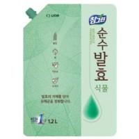 Средство для мытья посуды, фруктов и овощей CJ LION CHG натуральные растительные ферменты, сменная упаковка, 1200 мл. Арт. 61868