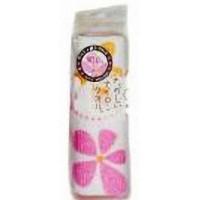 Массажная мочалка детская AISEN Цветок розовая BP222, 25х95 см Арт. 279673