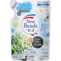 Мягкий гель для стирки белья КАО New Beads Pure Craft, с ароматом ландыша и ромашки, сменная упаковка, 680 гр.  Арт. 376619