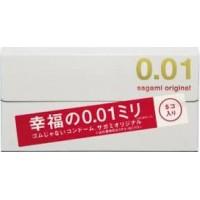 Японские полиуретановые презервативы Sagami Original 0.01 мм 5 шт. Арт. 619245