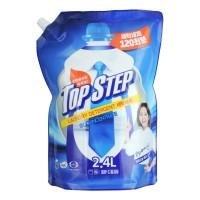 Жидкое средство для стирки KMPC TOP STEP - Сила 5 ферментов, антибактериальное, биоразлагаемое, сменная упаковка, 2400 мл. Арт. 583962