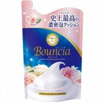 Увлажняющее мыло для тела со сливками и коллагеном MILKY BODY SOAP BOUNCIA, с ароматом роскошного букета, сменная упаковка, 400 мл. Арт. 008297
