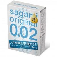 Японские полиуретановые презервативы Sagami Original EXTRA LUB 0.02 мм, 3 шт. Арт. 100064