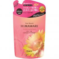 Шампунь для восстановления блеска поврежденных волос с растительным комплексом Kracie Dear Beaute Himawari Oil Premium EX, сменная упаковка, 360 мл. Арт. 70072
